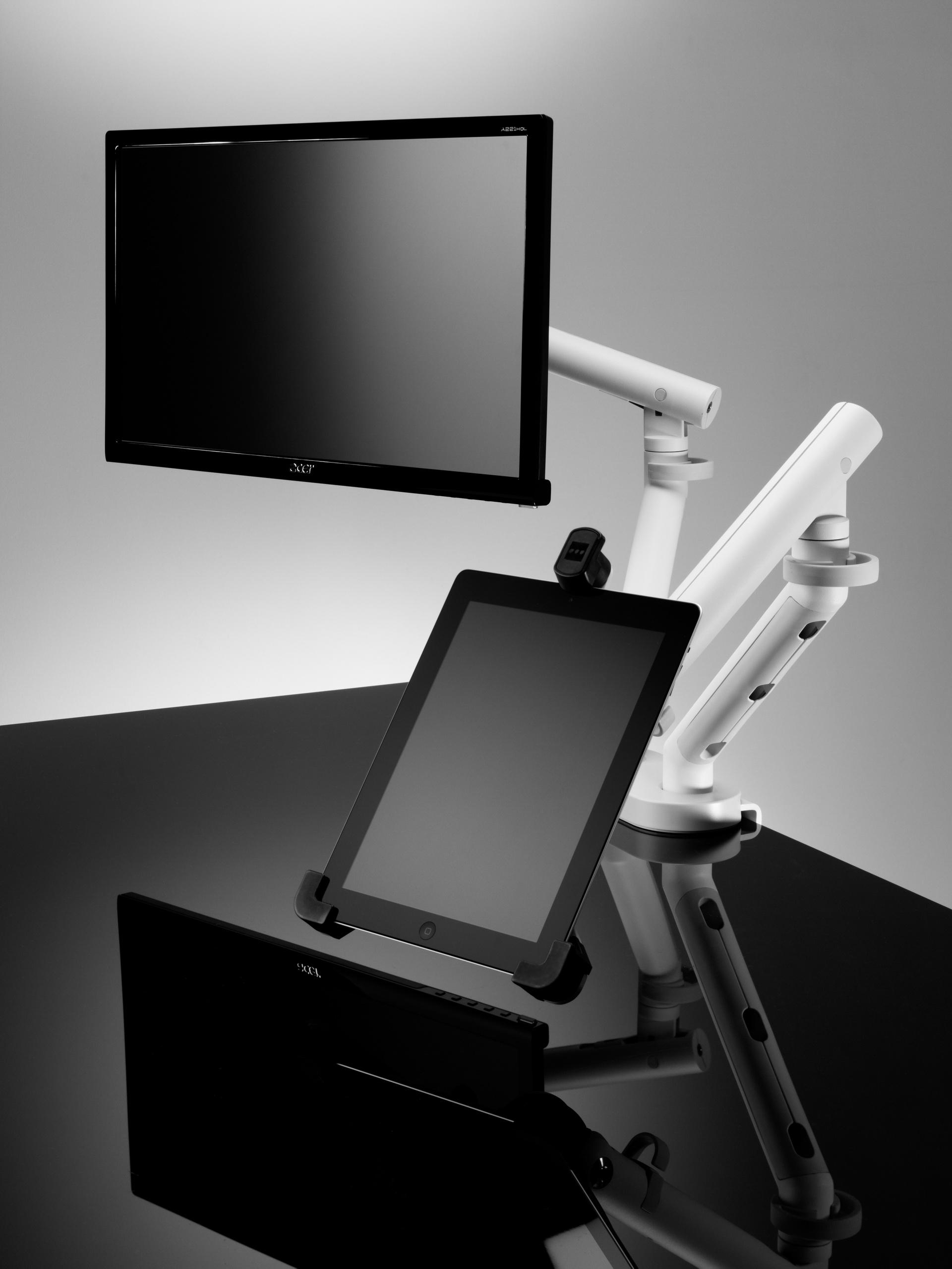 Flo Dual monitorkar   Herman miller